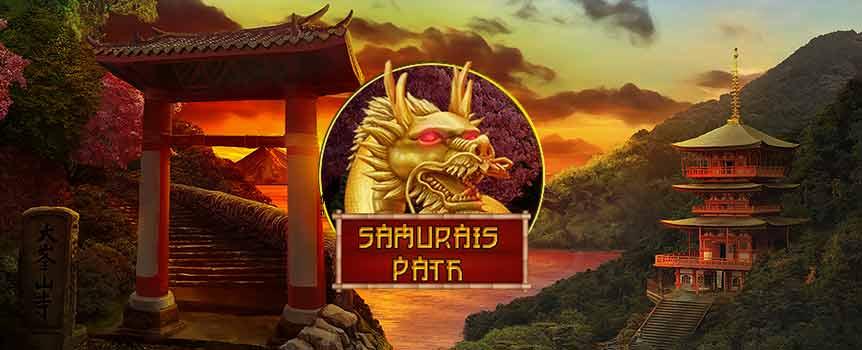 Samurai's Path(武道)设有一大批不同的特色,绝无冷场。在这个5卷轴25条派彩线老虎机的免费旋转中,武士不单止有3款不同的万能功能可供选择,每款更各有特别效果。 标准的忍者万能符号也不可忽略:忍者除可替代其它符号来形成获奖线外,也可以把其它屏幕上的符号变为万能。您甚至会获得奖金环节,当中的佛像下会藏着现金大奖。只要您一开始玩Samurai's Path(武道),保证您有欲罢不能之感。