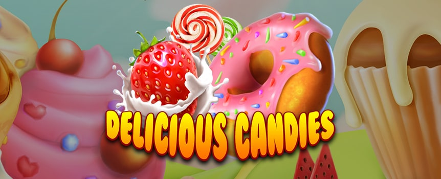 Venture into a land of marshmallows, candy canes and cupcakes … welcome to the land of Delicious Candies.