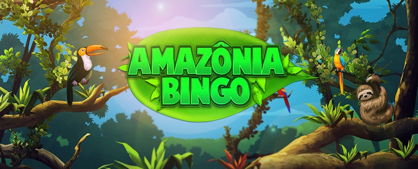 Deep in the Amazonian rainforest, lies the rarest bingo game in the world: Amazonia Bingo. If you want to win exotic payouts, you'll have to trek to the Amazon and set up four bingo cards in the lush vegetation. With a progressive jackpot, extra balls feature, and a wild bonus round, this game's got a lot to offer.