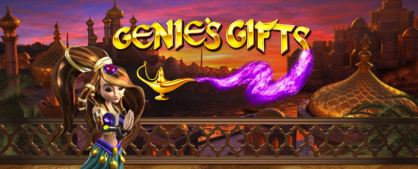 阿拉伯沙漠的滚滚黄沙下隐藏着一盏魔法神灯,还有等着随时被解锁的Genie's Gifts宝藏。