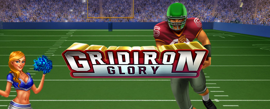 Grit, guts, determination – that's what it takes to win at football. You'll need all three for Gridiron Glory, a slot machine that puts you on the field for all the football action you need. This five-reel video slot brings bone-crunching action, stacked wilds, free spins and 243 possible winning combinations – enough to confuse Bill Belichick.
