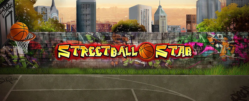 No matter what time of day, the outdoor basketball courts are always brimming with fast-pace action in Streetball Star. With no paylines holding you back, you can score 243 unique ways simply by landing matching icons on consecutive reels.