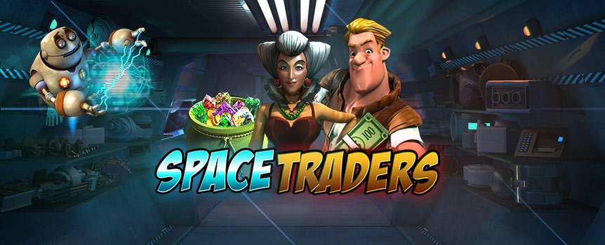 Meet Queen Bea – the central figure from Space Traders. She has the ability to set you up with an artifact that's so far out, it's from space. Through nine reels that spin on a 3X3 grid, there are 243 unique combinations to trigger payouts.