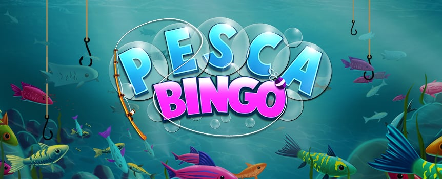 "Play bingo under the sea with Pesca Bingo. You get up to four bingo cards per round, and 12 unique winning patterns with the top pattern paying $15,000 when you stake $10 a card. You can also cash in on extra prizes through a bonus round that'll take you on a fishing trip. Reel in those fish for a hefty coin payout. To boost your chances of success, enjoy an Extra Balls feature that lets you buy up to 13 additional balls. With so many chances to win, you'd better warm up your vocal chords and get ready to yell ""Bingo!"""