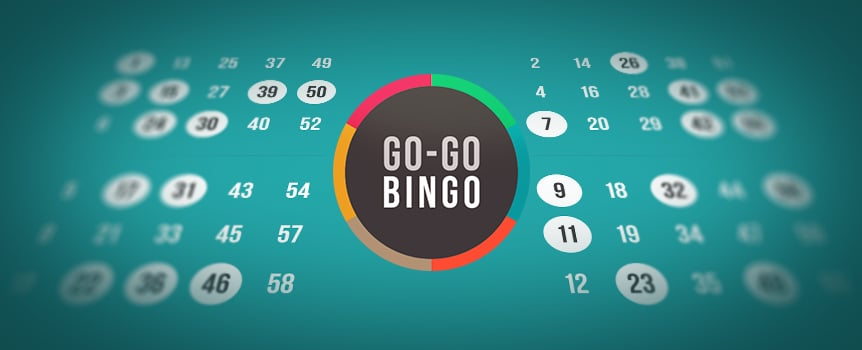 "It's bingo time at the casino. Go-Go Bingo is full of opportunities to land any one of the 12 winning patterns. You get four cards, and each one has 15 numbers. A total of 30 numbers (between 1 and 60) are drawn each round. Once the round's over, if you're short a number, you get another opportunity. Go-Go Bingo has an ""Extra Balls"" feature that gives you the option of buying extra balls. You can buy up to nine balls, giving you nine more chances to win an epic payout."